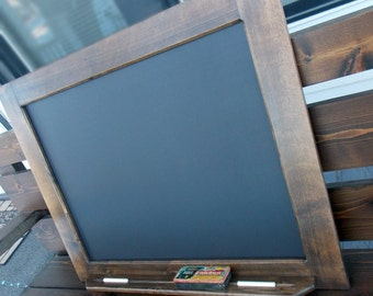 "Handcrafted Wood Framed Chalkboard With A Large Frame (24""x30"") And Chalk Tray"