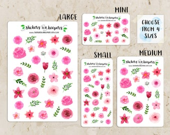 Floral Stickers, Flower Stickers, Decorative Stickers, Planner Stickers, Bullet Journal Stickers, TN Stickers, Floral Planner Stickers