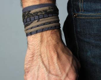 Bracelet Men, Burning Man, Mens Gift, Festival Clothing, Husband Gift, Wrap Bracelet, Gift for Boyfriend, Gift for Men, Festival, Mens