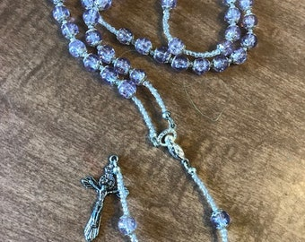 Clear Purple Rosary