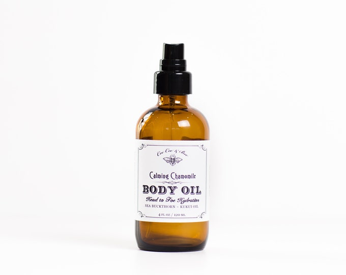 Calming Chamomile Body Oil w/ Kukui Nut Oil and Calendula