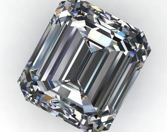 ZAYA moissanite - 3 carat asscher emerald cut moissanite, loose stones