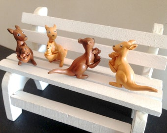 Miniature Fairy Garden kangaroo family, micro landscape, bonsai decoration, dolls House, terrarium, miniature animal, tiny animals