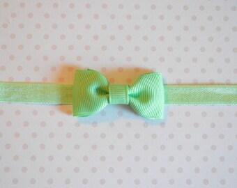 Mint Bow Headband. Tiny Mint Baby Bow Headband. Baby Hair Accessories. Baby Girls Hair Accessories. Baby Bow Headband. Mint Green