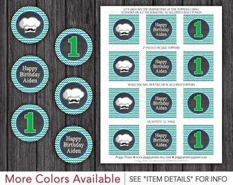 """Cooking Party Cupcake Toppers - Printable Baker's Man Birthday 2"""" Cupcake Toppers"""
