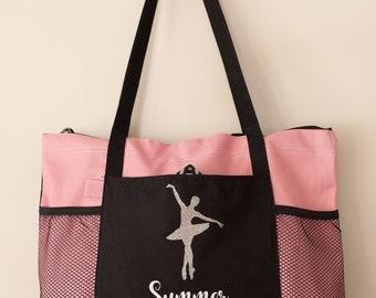 Personalized Dance Bag, Custom Gymnastics Bag, Ballet Bag