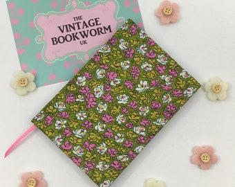 Recycled A6 Lined Notebook hand covered in an upcycled Vintage Ditsy Print Floral fabric