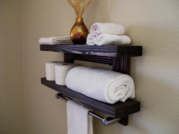floating shelves bathroom shelf floating shelf wood shelves. Black Bedroom Furniture Sets. Home Design Ideas
