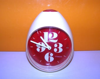 Vintage West Germany 1970s FISCO egg clock