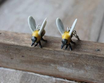Ceramic BumbleBee earrings