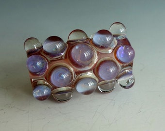 Bumpy Lampwork Glass Bead Iridescent and Fabulous