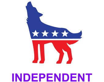 Independent Wolf Sticker - Political Party