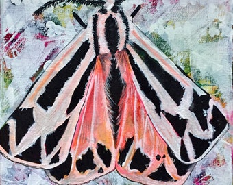 Withdrawn-Original Canvas Moth Painting