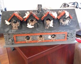 Halloween Haunted Bird House Decoration