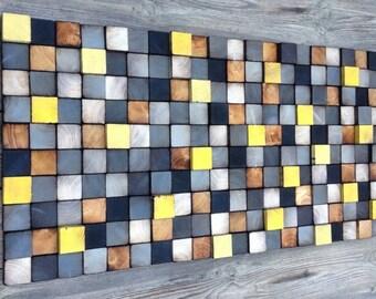 Wood Wall Art - Wood Art - Reclaimed Wood Art - Wall Installation