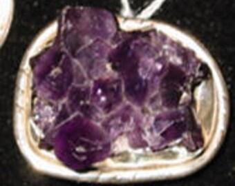 Steampunk Purple Amethyst Ring Sterling Silver size 7.5