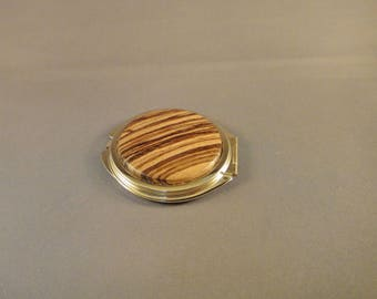 Compact Mirror - Purse - Zebrawood
