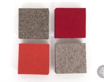 Quadu felt Coaster 4-set – square