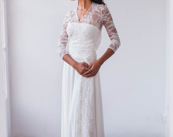 Lace long sleeve wedding dress, wedding dress, long sleeve wedding dress, lace wedding dress, bohemian wedding dress, lace sleeves dresses