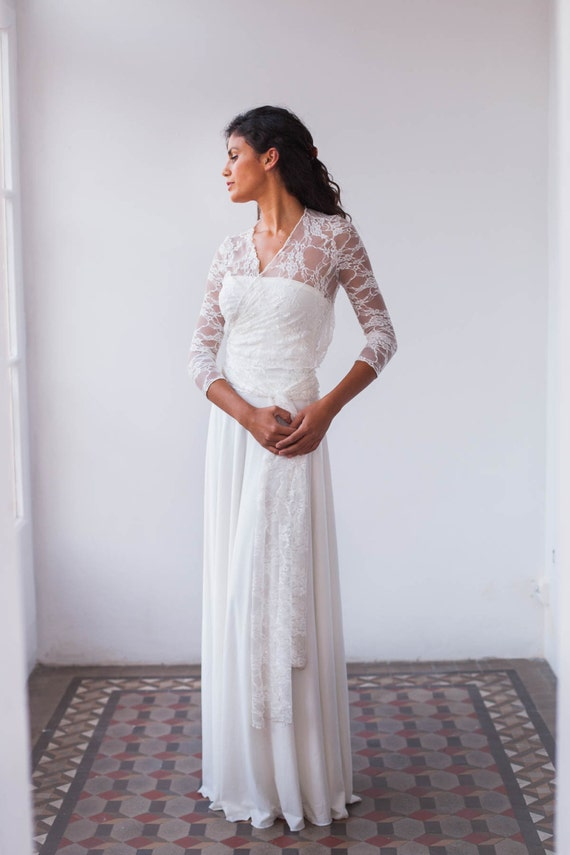 Lace long sleeve wedding dress wedding dress long sleeve junglespirit