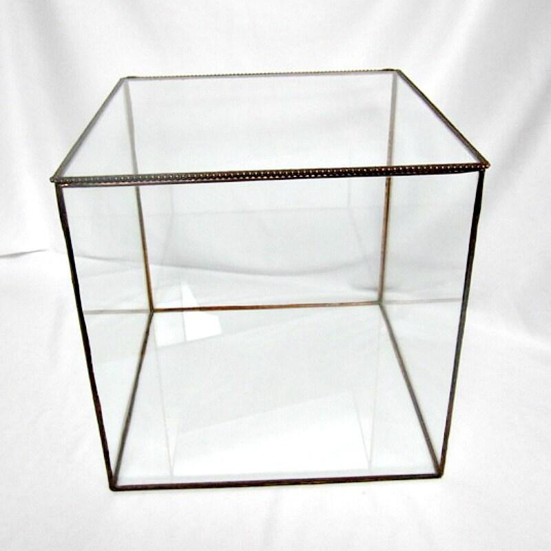 Glass Display Box Bridal Bouquet Holder Display Box Glass Keepsake ...