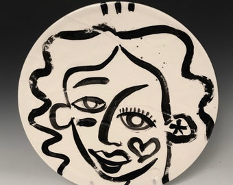Black & White Face Plate, Fine Art Dining