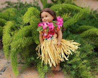 "18"" Inch Doll Clothing - Hawaiian Outfit (fits American Dolls)"