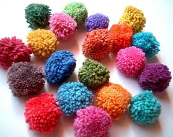 Yarn Pom Poms, wholesale, pompom, yarn pom pom, pompom, cotton, party, birthday, party decoration, yarn ball, handmade, 300 poms, iammie