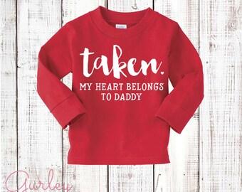 Girls Valentine's Day Shirt Red Long Sleeve