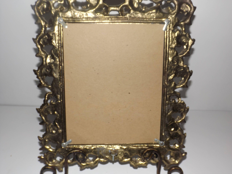 Pesado bronce victoriano adornado oro cristal frontal 8 x 10 foto ...