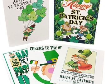 Boxed Set St. Patrick's Day Cards - 15 Cards & Envelopes, 5 Different Designs - 909