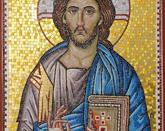 CHRIST byzantine style mosaic