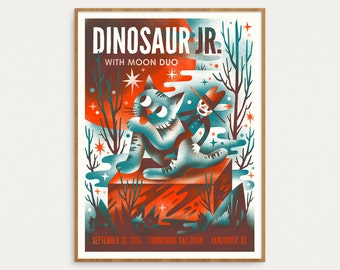 Dinosaur Jr.- Official Gig Poster, September 30th 2016 - 18x24