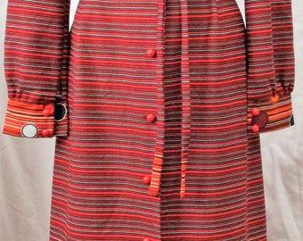 VINTAGE 1970s Boho Hippie Festival Maxi Dress  Size 14Aus