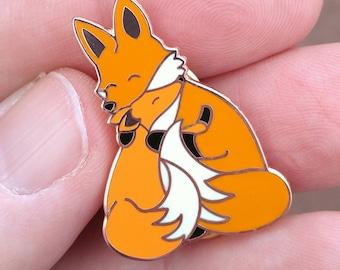 Fox Pin, Mother Pin, Father Pin, Enamel Pin, Rose Gold Pin, Mothers day Pin, Cute Pin, Mother's Day Pin, Hug Pin, Snuggle Pin, Foxy Mama