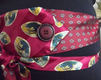 women silk tie belt