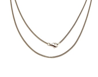 Titanium Necklace, Pure Titanium Chain Necklace for Sensitive Skin, Curb Chain Titanium Necklace, Add Your Own Pendant