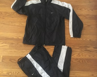 Vintage Nike Lined Track Suit Pants and Jacket