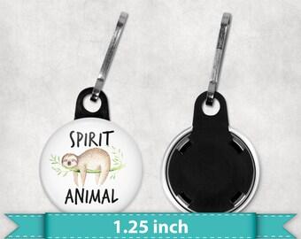 Sloth Spirit Animal Zipper Pull, Sloth Zipper Pull Charm, Sloth Pull Charm, Sloth, Zipper Pull, 4