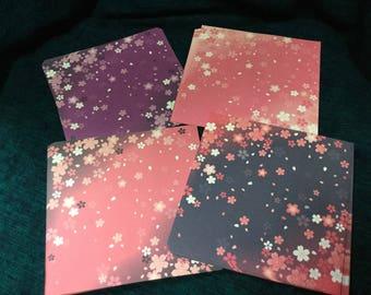Sakura Chiyogami - Cherry Blossoms origami paper