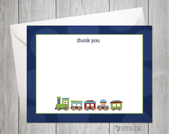 Choo Choo Thank You Flat Notes - INSTANT DOWNLOAD