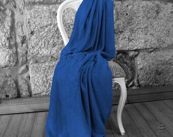 Multi-use Polar Sofa Bed Travel Fleece Blanket - Ref. Dulcelina - Blue