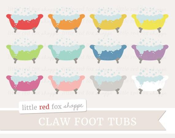 claw foot tub bubbles clipart vintage clip art retro bath rh etsy com Old-Fashioned Bathtub Clip Art Lady in Bathtub Clip Art