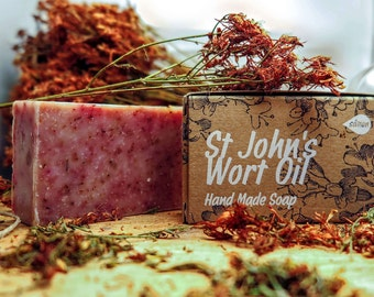 St. John's Wort Oil Soap,Olive oil soap,natural soap,herbal soap,pure soap,herb's soap,organic soap,bar soap,cold process