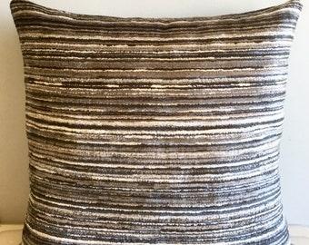 Grey Chenille Pillow Cover 18x18 Pillow Chenille Grey Pillow Designer Pillow Chenille Pillows Chenille Cushion Grey Sofa Pillow Cover