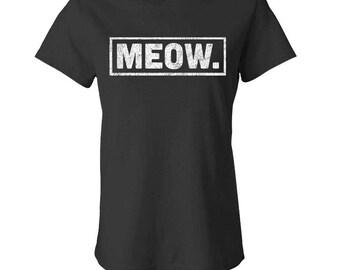 MEOW - Ladies Babydoll T-shirt