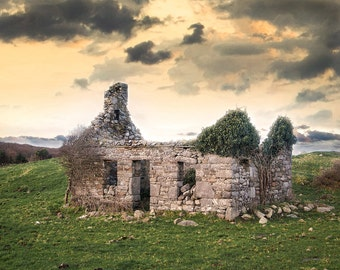 Ireland Photography, Old Homestead, Emerald Isle Photography, Fine Art Photography, Irish Green, The Quiet Man
