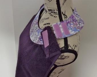 Deep Purple Adult Towel Bib