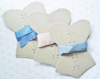 Cardboard Spoolers - 3 Ribbon Organizers - Lace Organizers - Cardboard Torso Spooler - Kraft Bobbins - Thread Winders - Thread Organizers