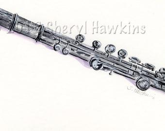 Flute Watercolor